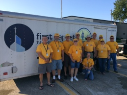This SBCV disaster relief team was led by First Baptist Norfolk member Bob Williams, and included Andy Hartell and Randy Morton of First Norfolk. The rest of the team was from Richmond, Colonial Heights, Lynchburg, and Marion.