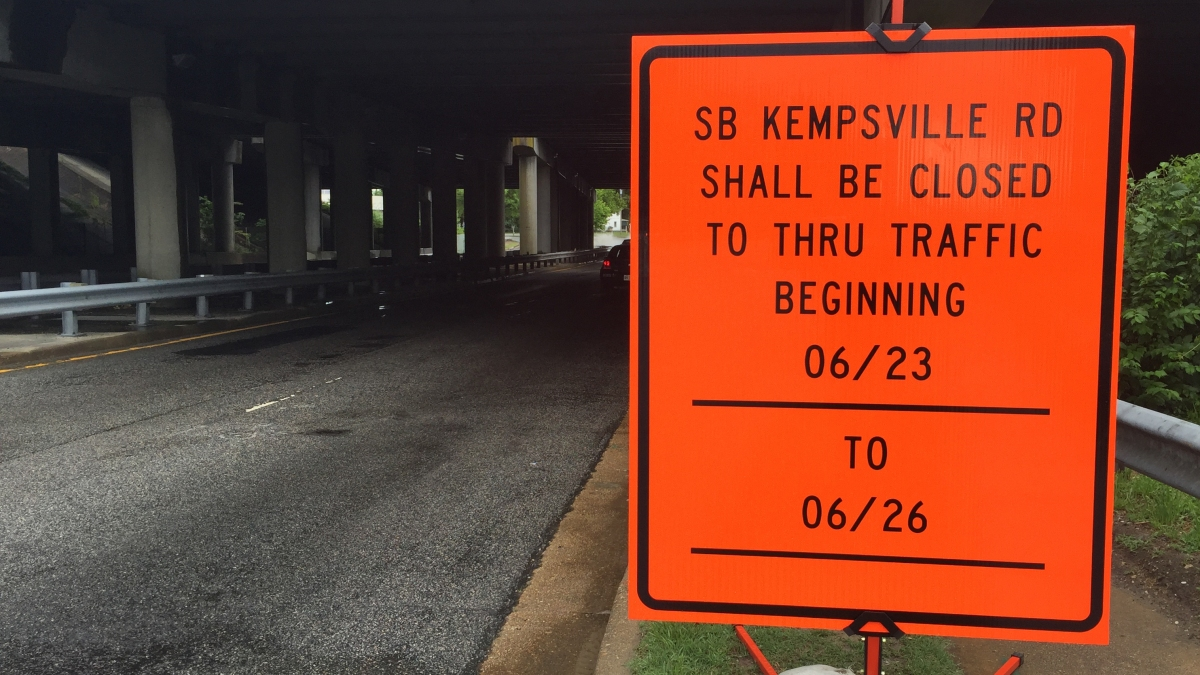 Kempsville Road Southbound Lane Closures 6/23-6/26 2017